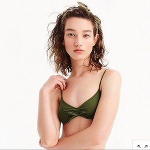 j.Crew Laguna Ruched Bikini Top